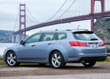 A three-quarter rear view of the 2014 Acura RSX Sport Wagon