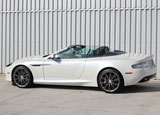 A side view of a 2013 Aston Martin DB9 Volante