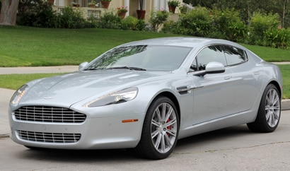 A three-quarter front view of a 2011 Aston Martin Rapide
