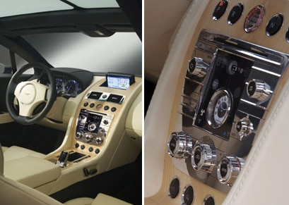 The interior of the Aston Martin Rapide