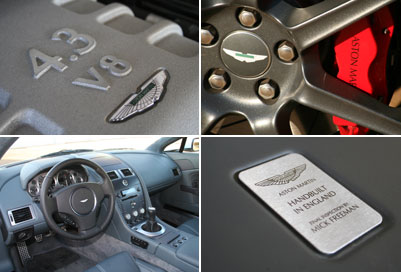 Each Aston Martin V8 Vantage is hand-built in England