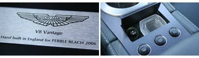 Our 2007 Aston Martin V8 Vantage test model was made especially for the 2006 Pebble Beach Concours d'Elegance