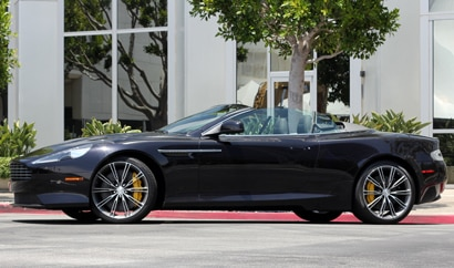A side view of a 2012 Aston Martin Virage Volante