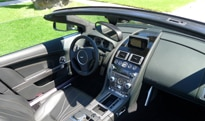 An interior view of the 2012 Aston Martin Virage Volante