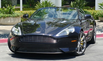 A front view of a 2012 Aston Martin Virage Volante