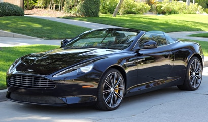 A three-quarter front view of a 2012 Aston Martin Virage Volante