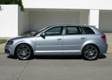 A side view of a silver 2010 Audi A3