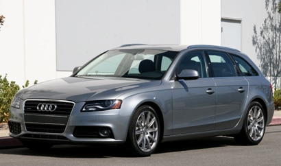A three-quarter front view of a 2010 Audi A4 Avant