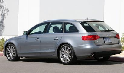 A three-quarter rear view of a 2010 Audi A4 Avant