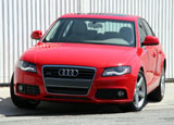 A front view of a red 2009 Audi A4 2.0 T quattro