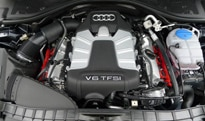 The 2.0-liter turbocharged inline 4-cylinder of the 2012 Audi A7 Quattro