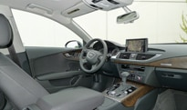 An interior view of the 2012 Audi A7 Quattro