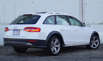 A three-quarter rear view of an Audi Allroad, one of GAYOT's Top 10 Station Wagons