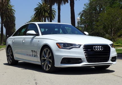 The Audi A6 TDI quattro, one of GAYOT's Top 10 Fuel Efficient Cars
