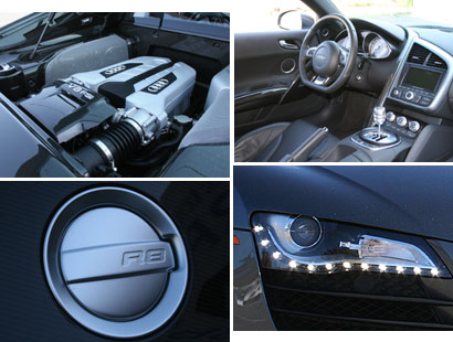 2008 Audi R8 Engine, Interior, Logo and LED Headlight
