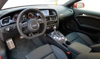 An interior view of the 2013 Audi RS 5 Coupe