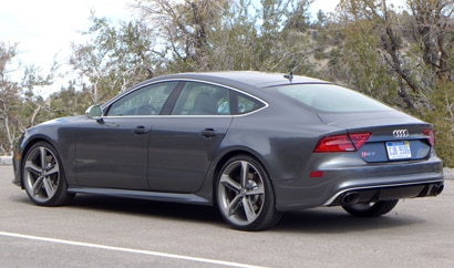 The twin-turbo Audi RS 7, one of GAYOT's Top 10 4-Door Sports Cars
