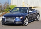 A three-quarter front view of the Audi S5 Cabriolet