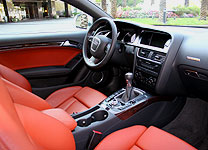 An interior view of a 2008 Audi S5