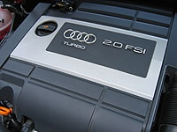 A view of the 2006 Audi A3 2.0 T MT6's engine