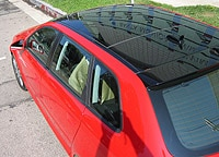 A view of the 2006 Audi A3 2.0 T MT6's roof