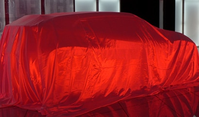 The Mitsubishi XR PHEV under wraps in Los Angeles