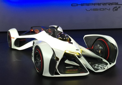 The video-game inspired Chaparral 2X, one of the LA Auto Show's concept cars in 2014