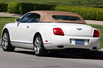 The Bentley Continental GTC's roof can be retracted at speeds of up to 20 mph