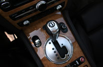 The gear shifter of the Bentley Continental GTC