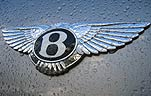 The iconic Bentley badge