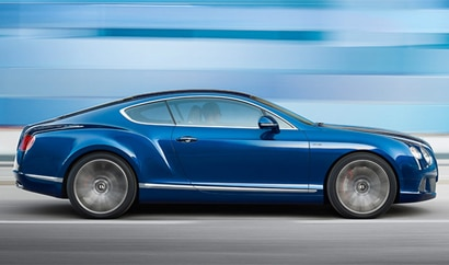 A side view of the Bentley Continental GT Speed