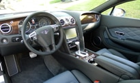 An interior view of the 2013 Bentley Continental GT V8