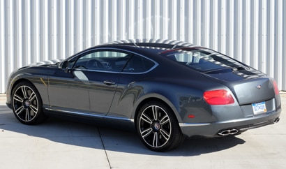 A three-quarter rear view of a 2013 Bentley Continental GT V8