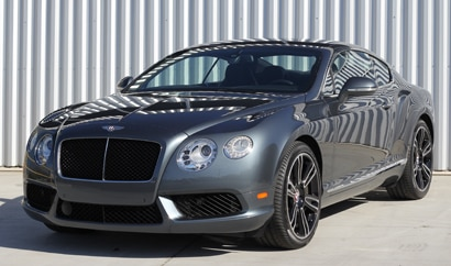 A three-quarter front view of a 2013 Bentley Continental GT V8