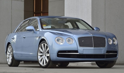 A three-quarter front view of the 2014 Bentley Flying Spur