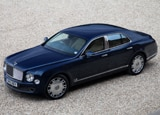 A three-quarter front view of a 2011 Bentley Mulsanne