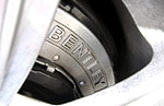 One of the Bentley Continental Flying Spur's ventilated disc brakes