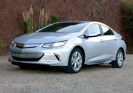 The 2016 Chevrolet Volt Premier, winner of the Green Car Award at the 2015 LA Auto Show