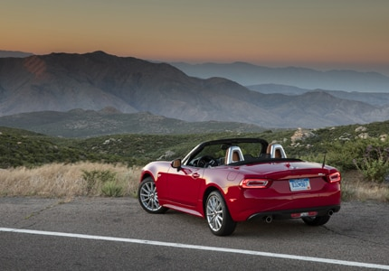 The 2017 Fiat 124 Spider, one of GAYOT's Top 10 Best New Cars