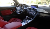 An interior view of the 2012 BMW 328i