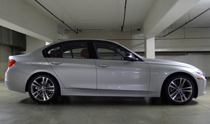 A side view of a 2012 BMW 328i