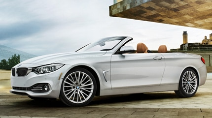 A side view of a BMW 428i Convertible