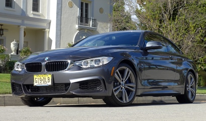 A three-quarter front view of the BMW 435i, one of GAYOT's Top 10 Best New Cars