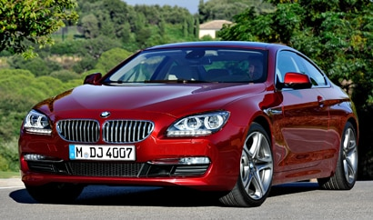 A three-quarter front view of a BMW 640i Coupe