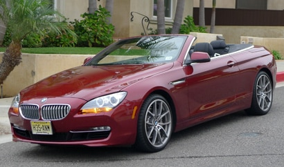 A three-quarter front view of a 2012 BMW 650i Convertible