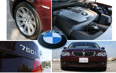 Multiple views of the 2006 BMW 750i