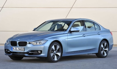 A three-quarter front view of the BMW ActiveHybrid 3