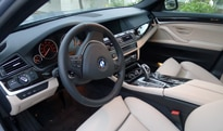 An interior view of the 2013 BMW ActiveHybrid 5