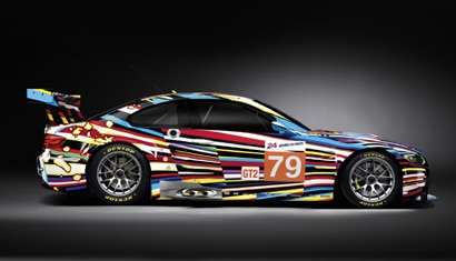 A side view of Jeff Koons' specially-crafted BMW M3 GT2