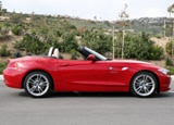A side view of a 2010 BMW Z4 sDrive30i